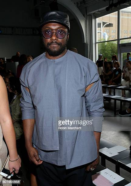 William 'Will i am' Adams attends Dion Lee Front Row September 2016 during New York Fashion Week at Pier 59 Studios on September 10 2016 in New York...