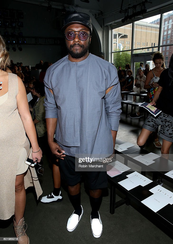 William 'Will .i. am' Adams attends Dion Lee Front Row September 2016 during New York Fashion Week at Pier 59 Studios on September 10, 2016 in New York City.