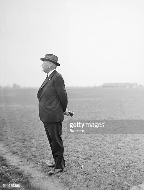 """William Woodward, noted turf man whose thoroughbreds """"Omaha"""" and """"Gallant Fox"""" have given him two Kentucky Derbies, was snapped here April 21 as he..."""