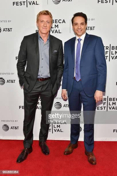 "William Zabka and Ralph Macchio attend the screening of ""Cobra Kai"" during the 2018 Tribeca Film Festival at SVA Theatre on April 24, 2018 in New..."
