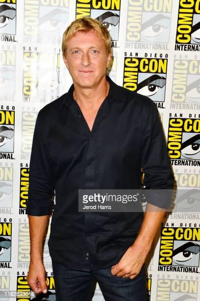 "William Zabka attends ""Cobra Kai"" press line at Comic Con at Hilton Bayfront on July 18, 2019 in San Diego, California."