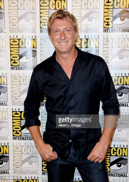"""William Zabka attends the """"Cobra Kai: Past, Present, and Future"""" panel during 2019 Comic-Con International at San Diego Convention Center on July 18,..."""