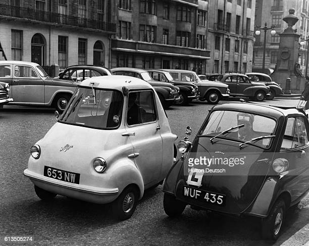 D H Williams and S Key drive the Isetta and Scootacar bubble cars in order to try to prove to the Ministry of Health that they are suitable for...