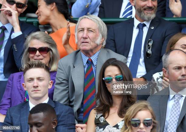 J P R Williams attends day six of the Wimbledon Tennis Championships at the All England Lawn Tennis and Croquet Club on July 7 2018 in London England