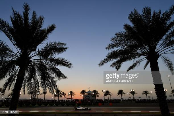 Williams' Brazilian driver Felipe Massa steers his car during the qualifying session ahead of the Abu Dhabi Formula One Grand Prix at the Yas Marina...