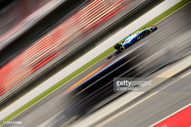 TOPSHOT Williams' British driver George Russell takes part in the tests for the new Formula One Grand Prix season at the Circuit de Catalunya in...