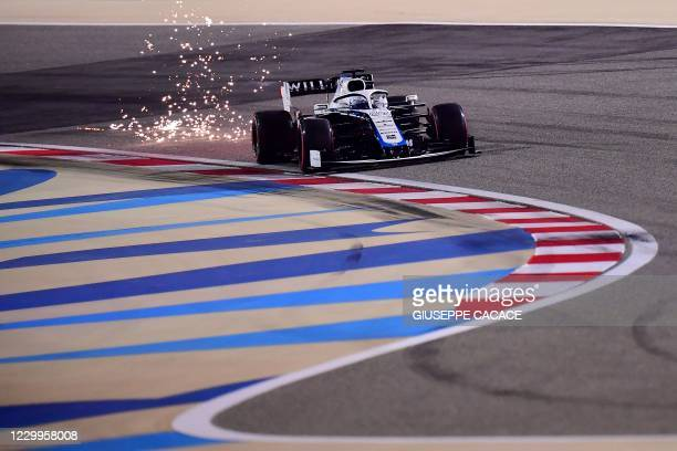 Williams' British driver Jack Aitken drives during the qualifying session ahead of the Sakhir Formula One Grand Prix at the Bahrain International...