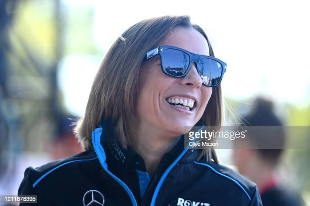Williams Deputy Team Principal Claire Williams arrives at the track during previews ahead of the F1 Grand Prix of Australia at Melbourne Grand Prix...