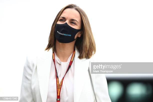 Williams Deputy Team Principal Claire Williams arrives in the Paddock during previews for the F1 Grand Prix of Hungary at Hungaroring on July 16,...