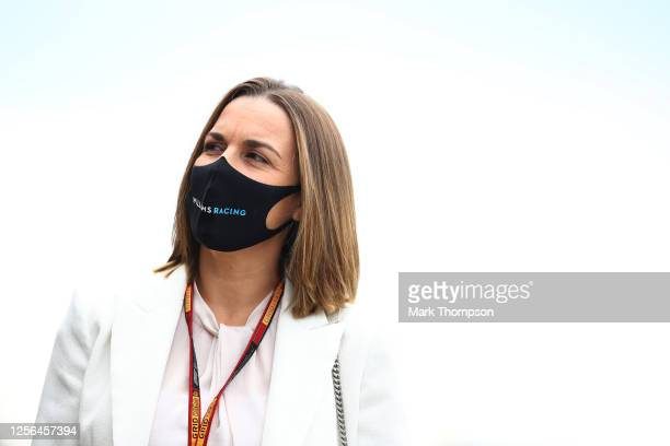 Williams Deputy Team Principal Claire Williams arrives in the Paddock during previews for the F1 Grand Prix of Hungary at Hungaroring on July 16 2020...