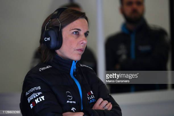 Williams Deputy Team Principal Claire Williams during day four of F1 Winter Testing