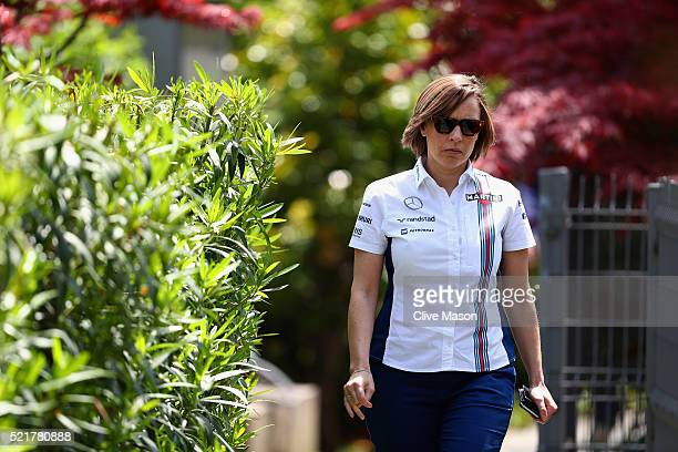 Williams Deputy Team Principal Claire Williams in the Paddock ahead of the Formula One Grand Prix of China at Shanghai International Circuit on April...