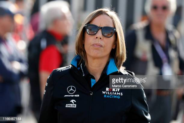 Williams Deputy Team Principal Claire Williams in the paddock during the F1 Grand Prix of Italy