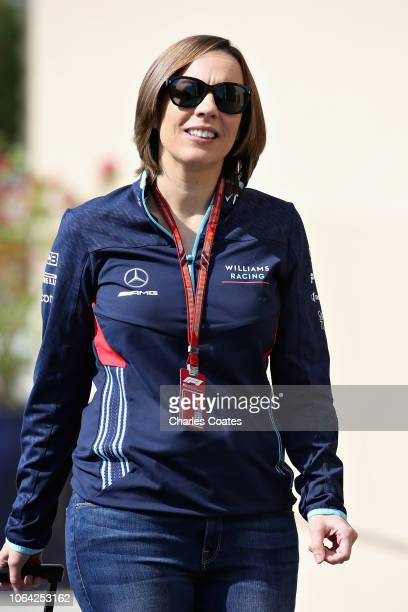 Williams Deputy Team Principal Claire Williams walks in the Paddock during previews ahead of the Abu Dhabi Formula One Grand Prix at Yas Marina...