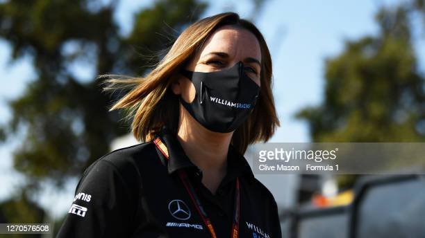 Williams Deputy Team Principal Claire Williams walks in the Paddock before practice for the F1 Grand Prix of Italy at Autodromo di Monza on September...