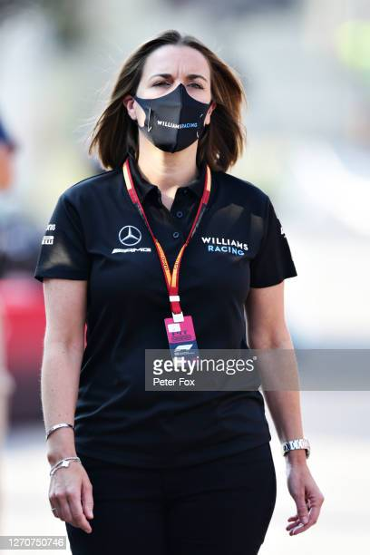 Williams Deputy Team Principal Claire Williams walks in the Paddock before final practice for the F1 Grand Prix of Italy at Autodromo di Monza on...