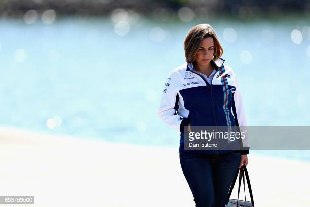 Williams Deputy Team Principal Claire Williams walks into the paddock during previews for the Canadian Formula One Grand Prix at Circuit Gilles...