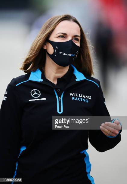 Williams Deputy Team Principal Claire Williams walks through the paddock during practice for the F1 Grand Prix of Hungary at Hungaroring on July 17,...