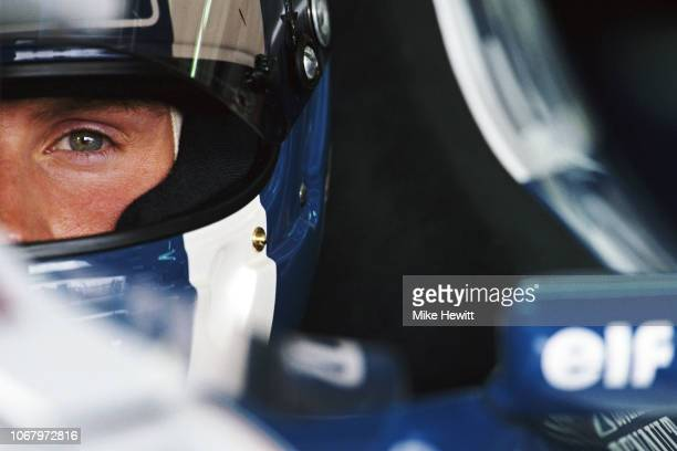 Williams driver David Coulthardl of Great Britain prepares for qualifying during the San Marino Grand Prix at the Autodromo Enzo e Dino Ferrari on...