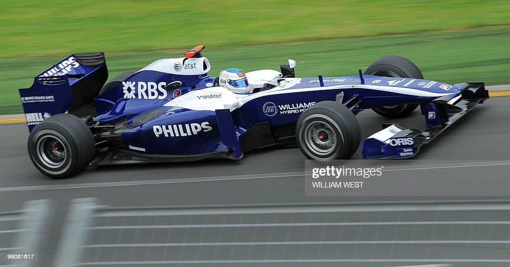 Williams driver Ruben Barrichello of Bra : News Photo