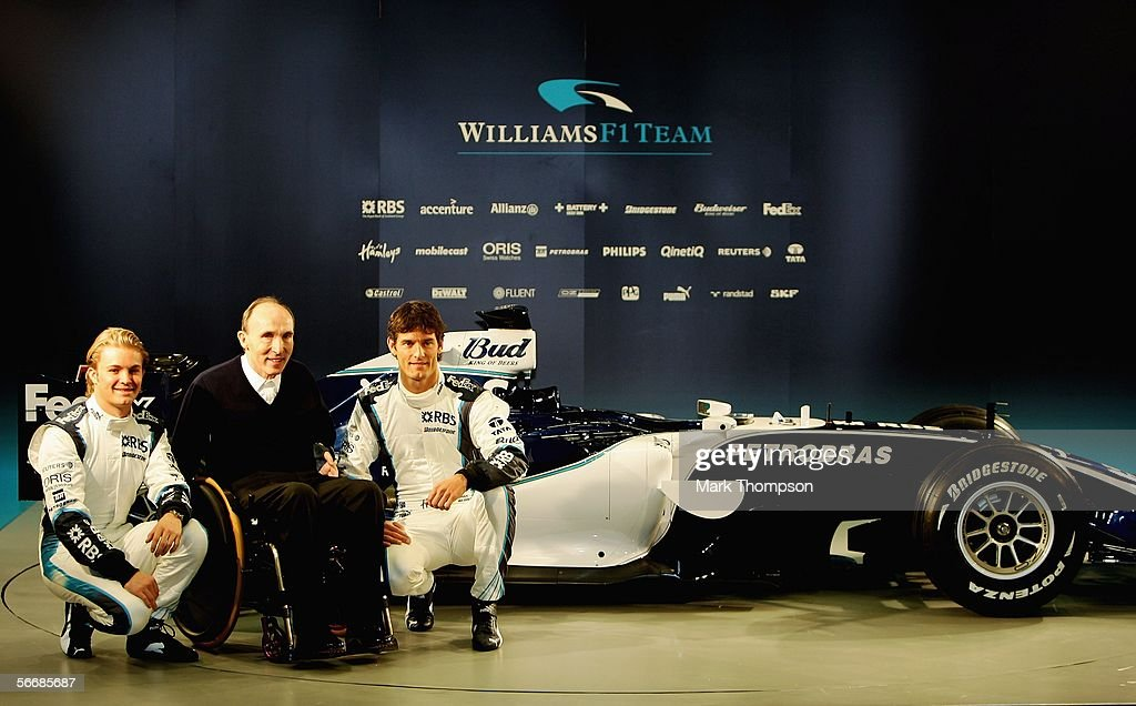 Williams drivers Mark Webber of Australia and Nico Rosberg ...