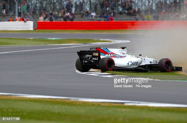 Williams' Felipe Massa during second practice of the 2017 British Grand Prix at Silverstone Circuit, Towcester.