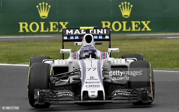 Williams Martini Racing Finish driver Valtteri Bottas drives his car during the Formula One Mexico Grand Prix first practice session at the Hermanos...