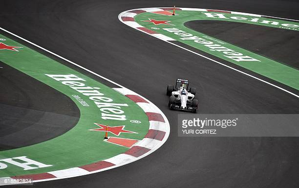 Williams Martini Racing Finish driver Valtteri Bottas drives his car during the Formula One Mexico Grand Prix second practice session at the Hermanos...