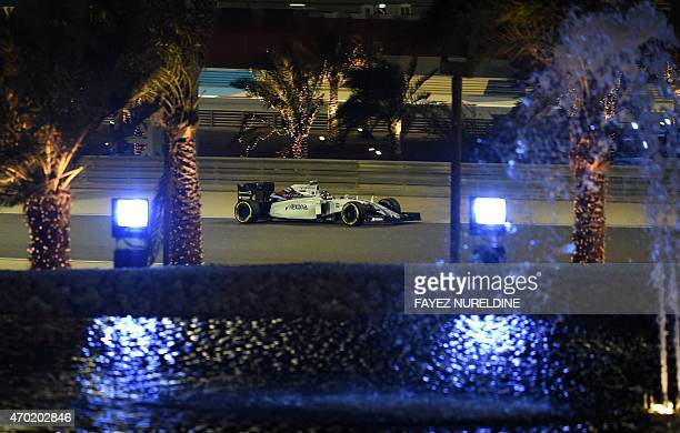 Williams Martini Racing Finnish driver Valtteri Bottas competes during the qualifying race for the Formula One Bahrain Grand Prix at the Sakhir...