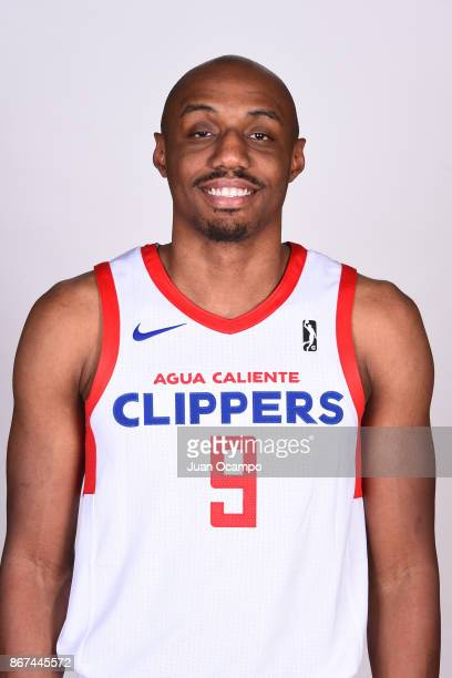 J Williams of the Agua Caliente Clippers of Ontario poses for a head shot during media day on October 27 2017 at the Darlene May Gym on the campus of...