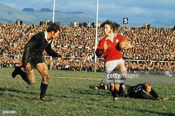 Williams of the British Lions takes on New Zealand's Ian Kirkpatrick during a test match on the British Lions Tour to New Zealand in 1971
