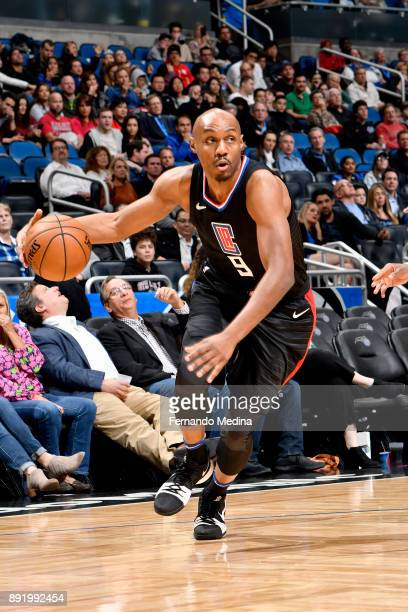 J Williams of the LA Clippers drives to the basket against the Orlando Magic on December 13 2017 at Amway Center in Orlando Florida NOTE TO USER User...