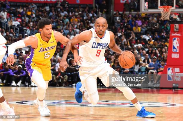 J Williams of the LA Clippers handles the ball against the Los Angeles Lakers on October 13 2017 at STAPLES Center in Los Angeles California NOTE TO...