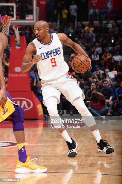 J Williams of the LA Clippers handles the ball against the Los Angeles Lakers on November 27 2017 at STAPLES Center in Los Angeles California NOTE TO...
