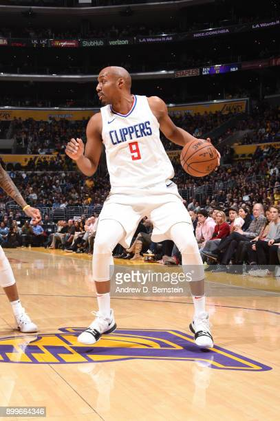 J Williams of the LA Clippers handles the ball against the Los Angeles Lakers on December 29 2017 at STAPLES Center in Los Angeles California NOTE TO...