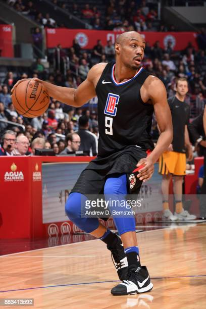 J Williams of the LA Clippers handles the ball against the Utah Jazz on November 30 2017 at STAPLES Center in Los Angeles California NOTE TO USER...