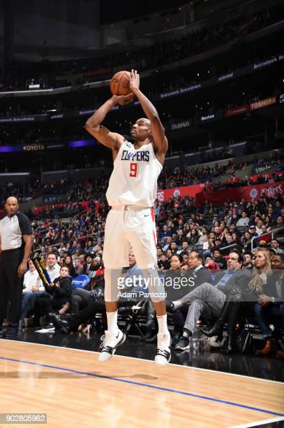 J Williams of the LA Clippers shoots the ball against the Atlanta Hawks on January 8 2018 at STAPLES Center in Los Angeles California NOTE TO USER...
