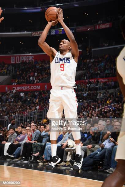 J Williams of the LA Clippers shoots the ball against the Los Angeles Lakers on November 27 2017 at STAPLES Center in Los Angeles California NOTE TO...