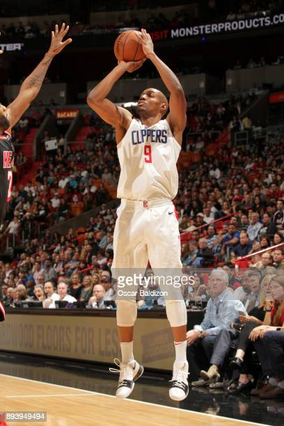 J Williams of the LA Clippers shoots the ball against the Miami Heat on December 16 2017 at American Airlines Arena in Miami Florida NOTE TO USER...