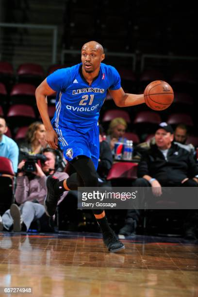 J Williams of the Texas Legends dribbles the ball up court against the Northern Arizona Suns on March 23 2017 at Prescott Valley Event Center in...