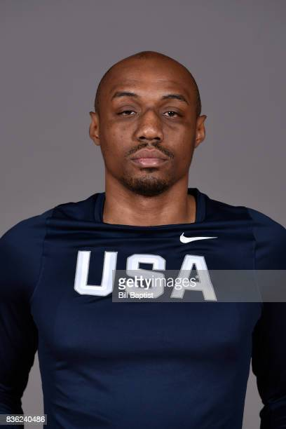 J Williams of the USA AmeriCup Team poses for a head shot during a training camp at the University of Houston in Houston Texas on August 18 2017 NOTE...