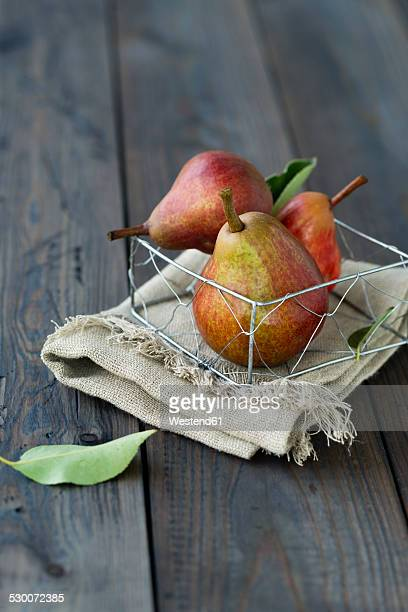 Williams pears in a basket