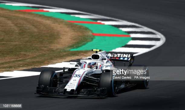 Williams Sergey Sirotkin during practice ahead of the 2018 British Grand Prix at Silverstone Circuit Towcester