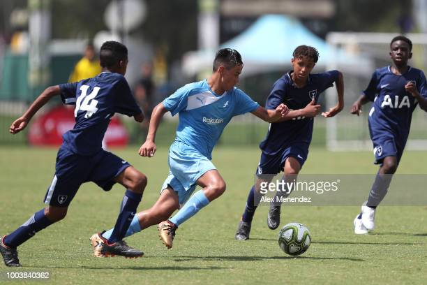 Williams Sulley of FC Bayern Munich is fouled hard by David Roberts of Chelsea FC during the International Champions Cup 2018 Futures Tournament at...