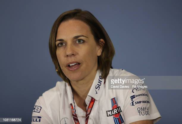Williams team Vice Principle Claire Williams at Silverstone Circuit Towcester