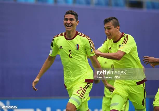 Williams Velasquez of Venezuela celebrates after scoring the opening goal during the FIFA U20 World Cup Korea Republic 2017 group B match between...