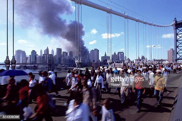 Williamsburg Bridge with Twin Towers disaster