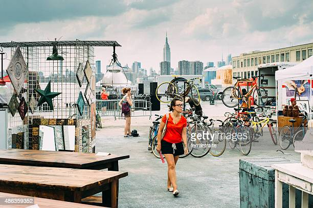 williamsburg flea market brooklyn new york - williamsburg new york city stock pictures, royalty-free photos & images