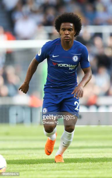 Willian Borges Da Silva of Chelsea during the Premier League match between Newcastle United and Chelsea at St James Park on May 13 2018 in Newcastle...