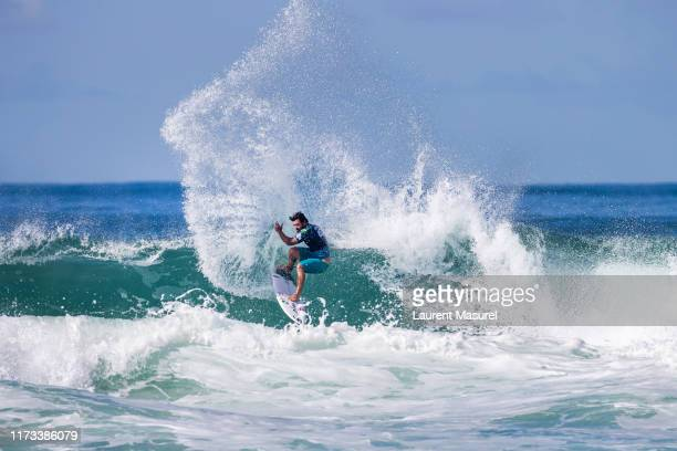 Willian Cardoso of Brazil advances directly to Round 3 of the 2019 Quiksilver Pro France after placing second in Heat 7 of Round 1 at Le Culs Nus on...